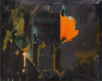 William Scharf, 'Untitled (Orange and Black Abstract)', 1958