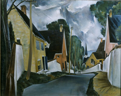 Preston Dickinson, 'Old Quarter, Quebec', 1927
