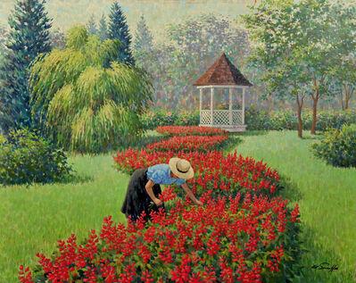 Arthur Sarnoff, 'Woman in Garden'