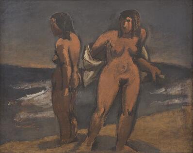 Josef Herman RA, 'Women on the Shore', 1945-1950
