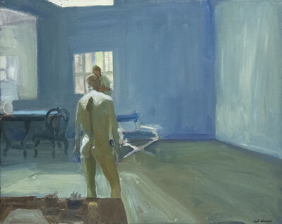 Paul Wonner, 'Drawing in the Studio', 1964