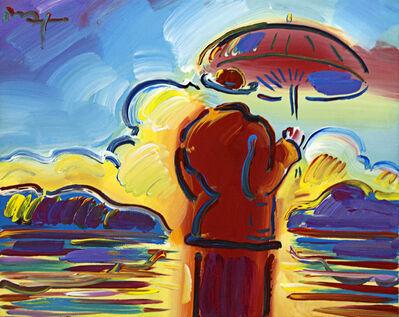 Peter Max, 'Umbrella Man with Landscape'