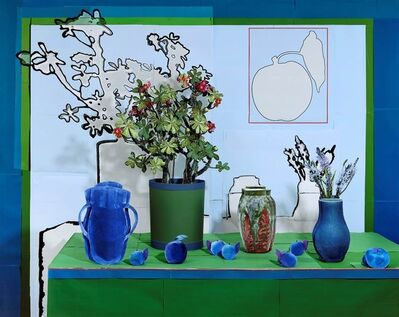 Daniel Gordon, 'Desert Rose and Apricots in Red, Green and Blue', 2020
