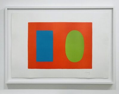 Ellsworth Kelly, 'Blue and Green over Orange ', 1964
