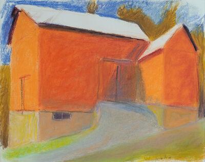 Wolf Kahn, 'Soclair Barn, Sideways', 2008