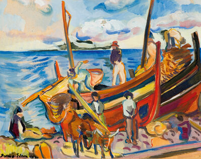 Irma Stern, 'Fishing Boats on the Beach', 1931