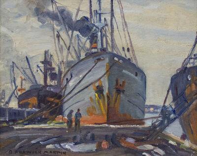 Bernice Fenwick Martin, 'Tramp Steamer Toronto Quay'