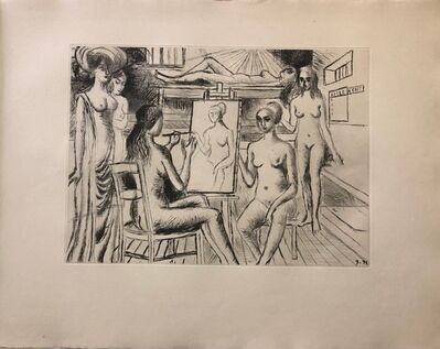 Paul Delvaux, 'Construction d'un Temple en Ruine - Plate n. 4', 1971