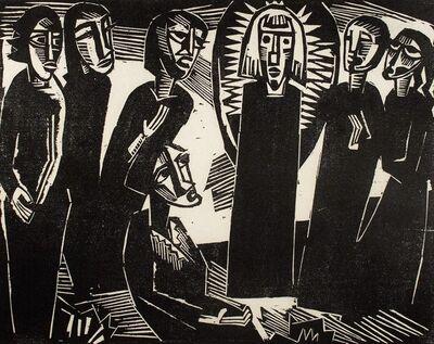Karl Schmidt-Rottluff, 'Christus unter den Frauen', 1919