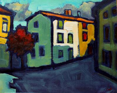 Malcolm Croft, 'Town Square, Azille'