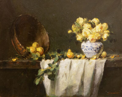 Jacqueline Kamin, 'Yellow Roses with Pears', ca. 2020
