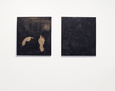 Endale Desalegn, 'Diptych 'Mother and Child' and 'Christ's Mum in the Dark Surrounding'', 2014