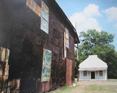 William Christenberry, 'Warehouse Wall and Store, Newbern, Alabama', 1997