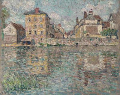 Henri Eugène Le Sidaner, 'Maison au soleil sur la rivière, Nemours', 1919