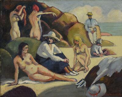 Ludovic-Rodo Pissarro, 'Scène de Plage', ca. 1928