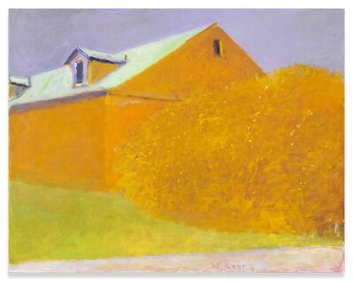 Wolf Kahn, 'Ochre Barn, Ochre Bush', 2004