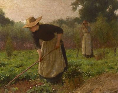 Karl Witkowski, ' Women in a Garden', ca. 1900