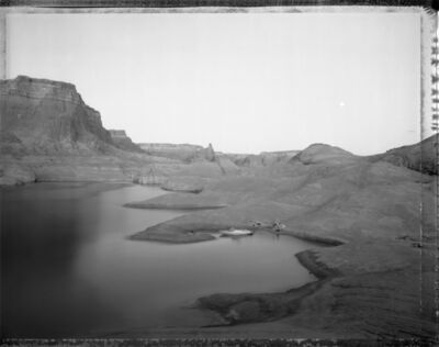 Mark Klett, 'Campsite Reached by boat through watery canyons, Lake Powell, 8/20/83', 1983