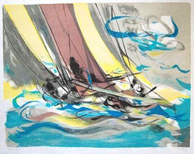 Marcel Mouly, 'Voiler Par Grand Vent', 1985