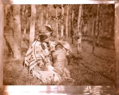 Edward Sheriff Curtis, 'Assiniboin Mother and Child', 1926
