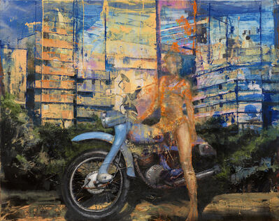 Martin Riwnyj, 'Chica en moto', 2010