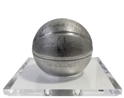 Mr. Brainwash, 'Basketball-Stainless Steel', 2020