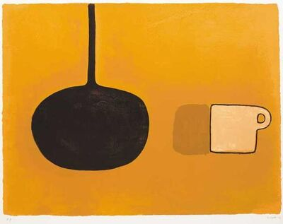 William Scott (1913-1989), 'Black Pan, Beige Cup on Brown', 1970