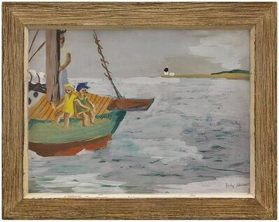 Judith Shah, 'Girls on a Boat, Gouache on Paper', 20th Century