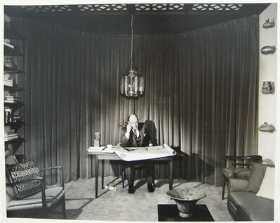 Pedro E. Guerrero, 'Edward Durrell Stone Townhouse, New York City, Portrait is His Studio', 1957