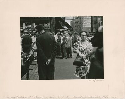 Bill Witt, 'Crossing Ludlow Street', 1947