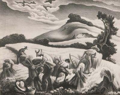 Thomas Hart Benton, 'Cradling Wheat', 1939