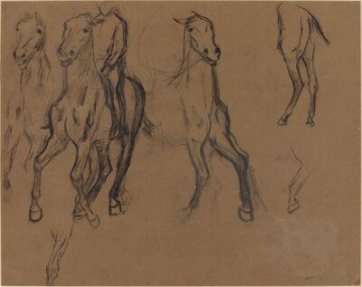 Edgar Degas, 'Study of Horses', ca. 1886