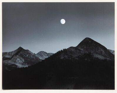 Ansel Adams, 'Moonrise from Glacier Point', 1959