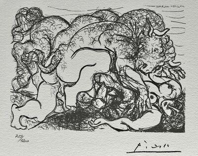 Pablo Picasso, 'Minotaure amoureux d'une femme centaure (Suite Vollard Planche LXXXVII)', 1973