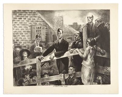 George Wesley Bellows, 'THE APPEAL TO THE PEOPLE (M. 167)', 1923-1924