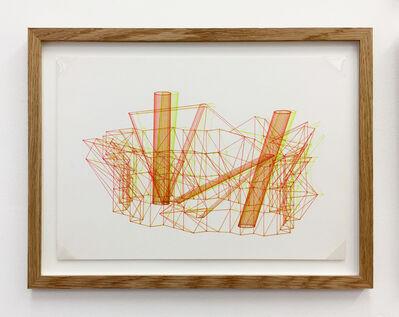 Günter Günschel, 'Anaglyph 3D drawing No.5', 1988