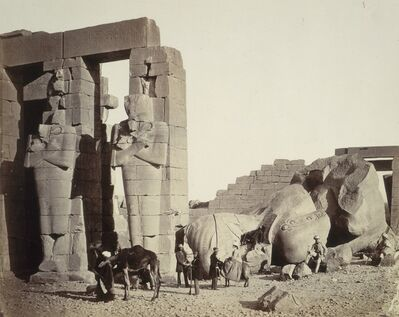 Francis Frith, 'The Ramasseum of El-Kurneh, Thebes, First View', ca. 1857