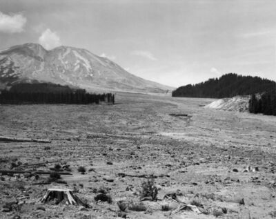 Frank Gohlke, 'Looking NW across lahar toward Mt. St. Helens- 6 miles Se of Mt. St. Helens, Wash.', 1984