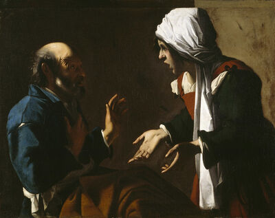 Pensionante del Saraceni, 'The Denial of Saint Peter', 1615-1620
