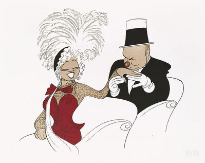 "Al Hirschfeld, '""W.C. Fields and Mae West: My Little Chickadee""', 1991"