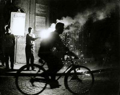 Sabine Weiss, 'Bicyclist, Naples, Italy', 1955/1955