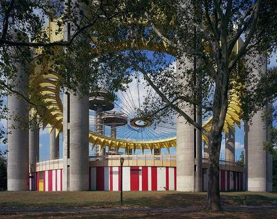 "Jade Doskow, 'New York 1964 World's Fair, ""Peace Through Understanding,"" Philip Johnson's New York State Pavilion (fresh paint)', 2017"