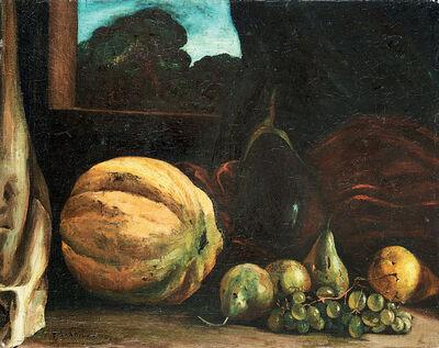 Giorgio de Chirico, 'Natura morta con melone, ortaggi e frutta', 1922