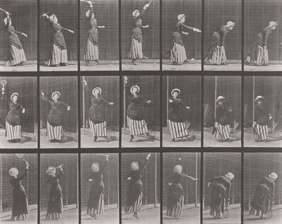 Eadweard Muybridge, 'Plate 298. Lawn tennis; serving.', 1887