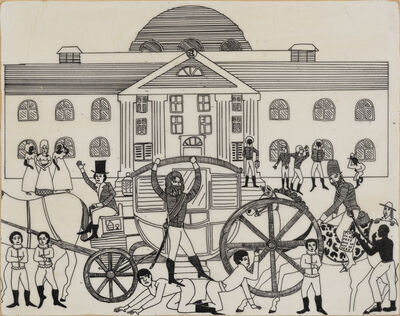 Umar Rashid (Frohawk Two Feathers), 'Come inside my house and know forever. Amadou and Robert Sidney arriving in Alexandria (Belhaven)', 2016
