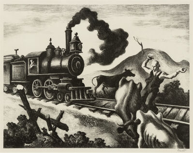 Thomas Hart Benton, 'Slow Train Through Arkansas', 1941
