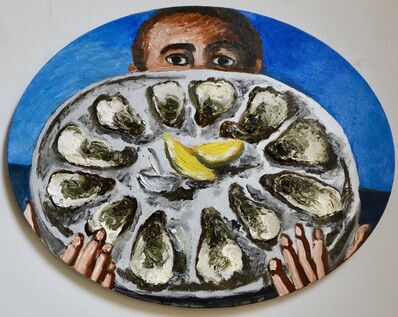 Natalya Nesterova, 'Waiter with oysters', 2020
