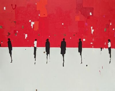 Geoffrey Johnson, 'Figures with Red ', 2018