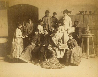 Thomas Eakins (or Circle of), '13 Students, Pennsylvania Academy Studio', 1882, 83c/1882, 83c