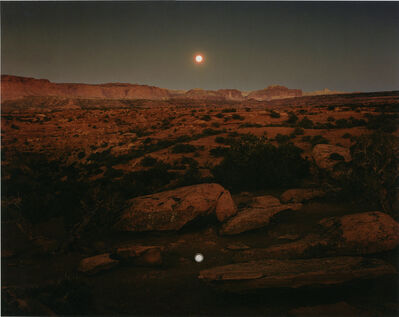John Pfahl, 'Moonrise over Pie Pan', 1977
